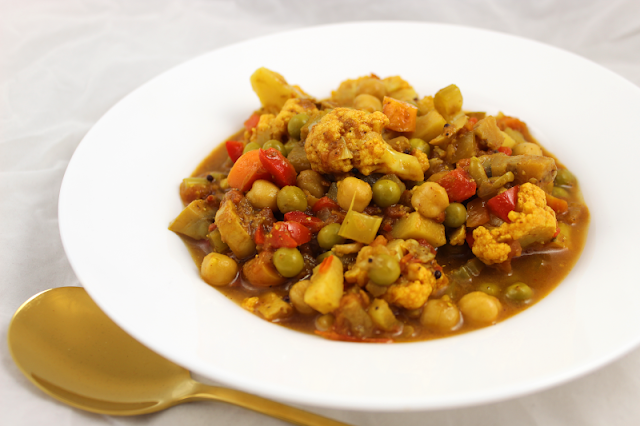 Vegetable Vindaloo with Chickpeas