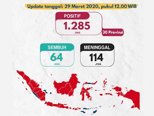 update corona indonesia 29 maret 2020