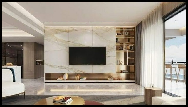 simple tv wall design for small living room