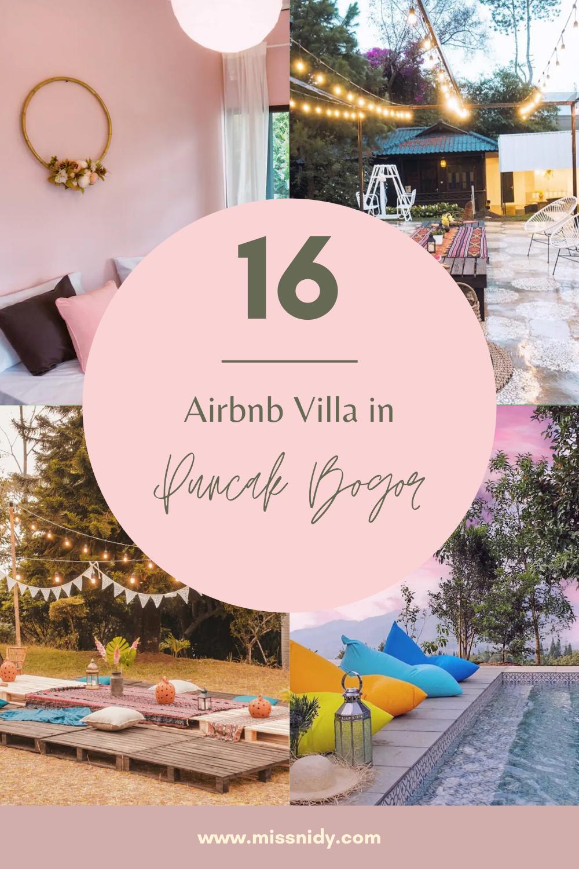 rekomendasi villa airbnb di puncak bogor