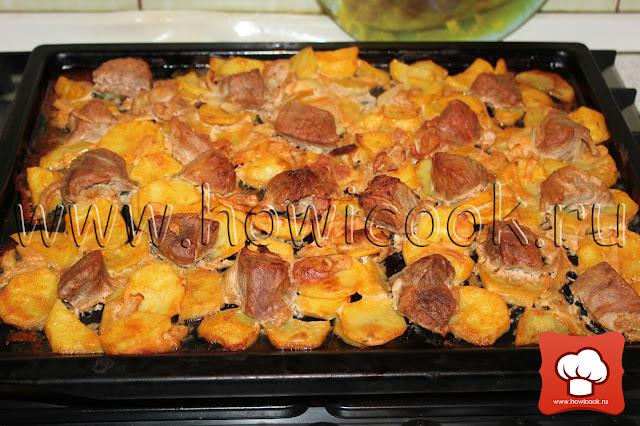 рецепт вкусной свинины с картошкой в духовке
