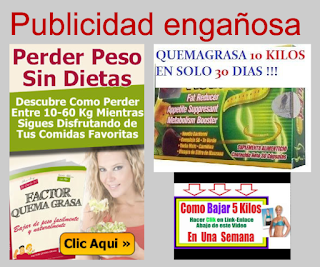 3 anuncios publicitarios para adelgazar