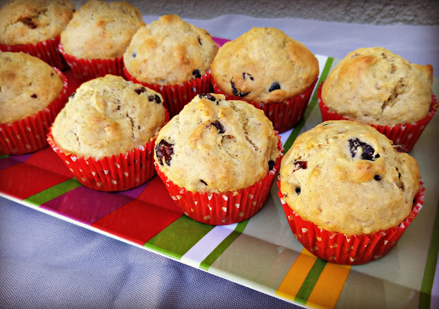 walnut cranberry orange muffins