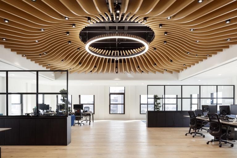 Sufit ażurowy do biura urzędu foyer 3d