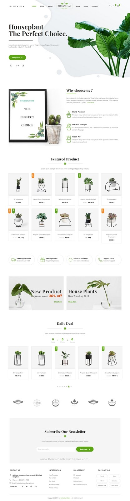 Botanical Ecommerce Template