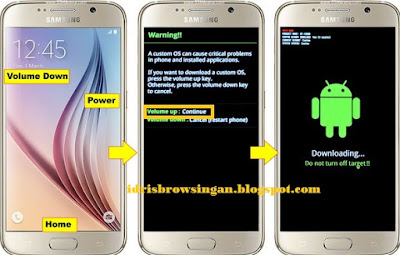 Download Mode Samsung Galaxy S6 atau S6 Edge