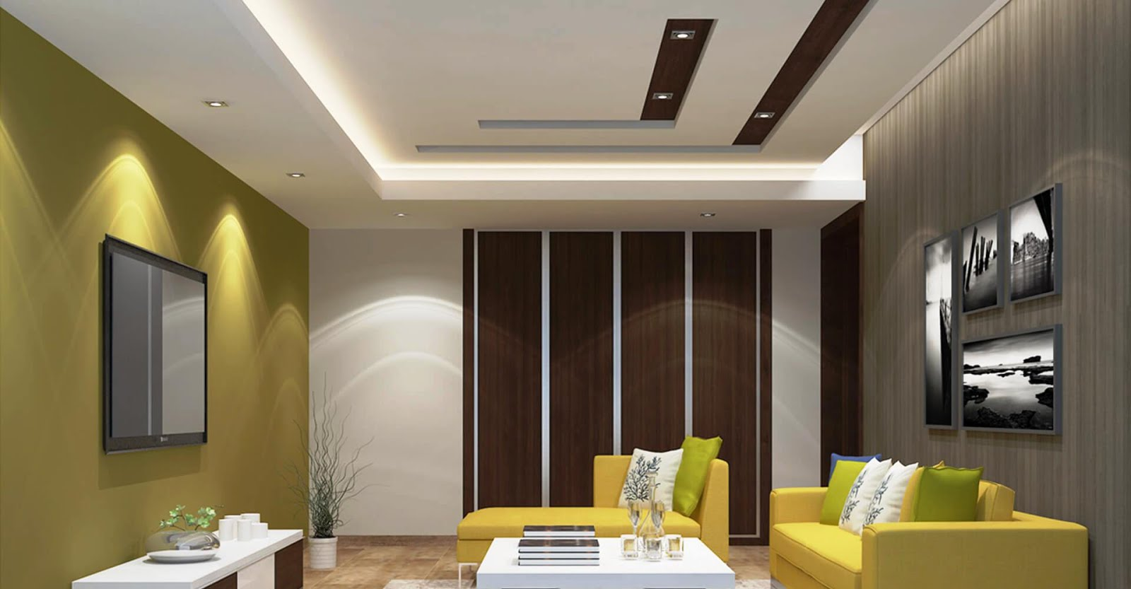10+ Ide Desain Plafon Untuk Ruang Tamu