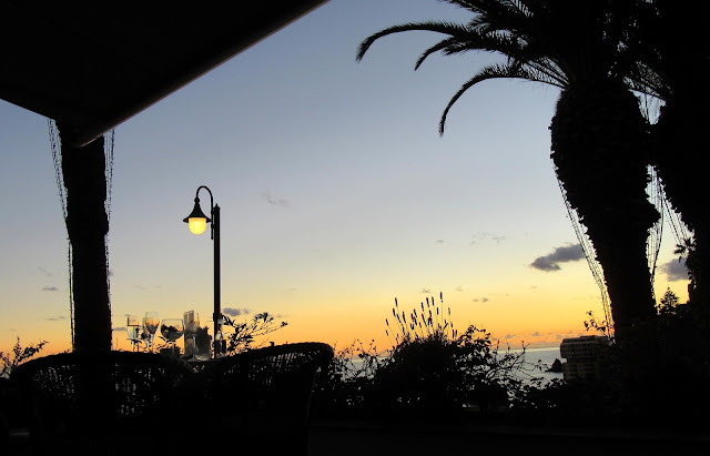 dusk at The Cliff Bay Hotel