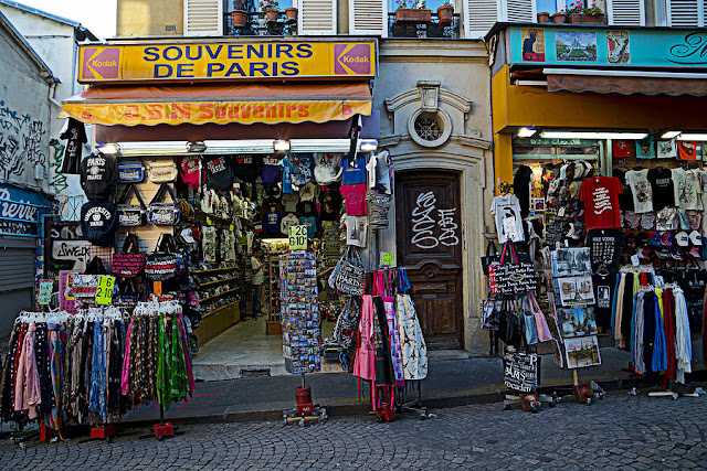 Lojas de souvenirs de Paris