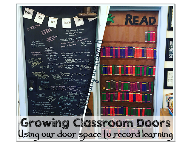 Classroom doors can be a great place to showcase the learning going on throughout the year.