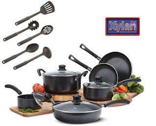 A stock image of Crofton 15-Piece Cookware Set, from Aldi