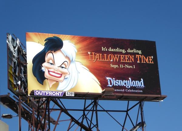 Cruella de Vil Disneyland Halloween 2015 billboard