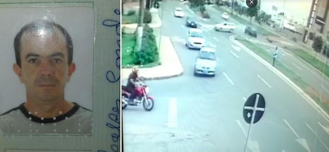 Anápolis: Câmeras de segurança Flagram exato momento de acidente na Brasil Sul que vitimou motociclista
