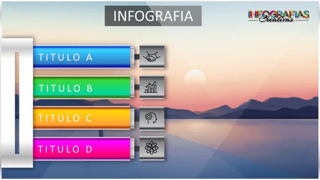 Plantilla creativa de infografía animada