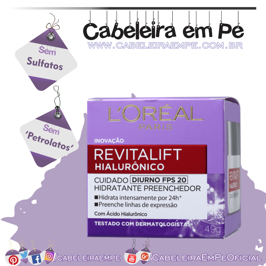 Revitalift Hialurônico Creme Antirrugas Diurno - L'Oréal