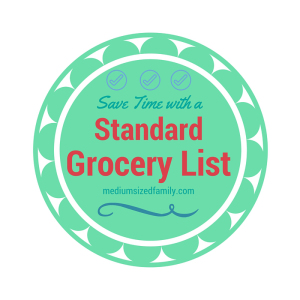 Save Time with a Standard Grocery List, via mediumsizedfamily and featured at Devastate Boredom's Free and Fun Friday!
