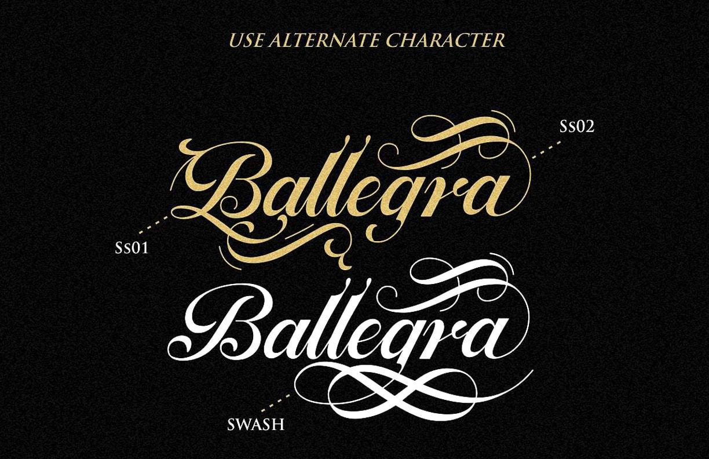 ballegra script font free download