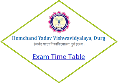 Durg University Time Table 2019