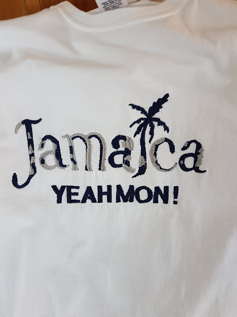 white Jamaica t shirt at The Camellia