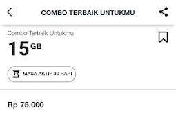 Paket Combo Telkomsel 15GB, 300 Menit, 400 SMS Rp 75000