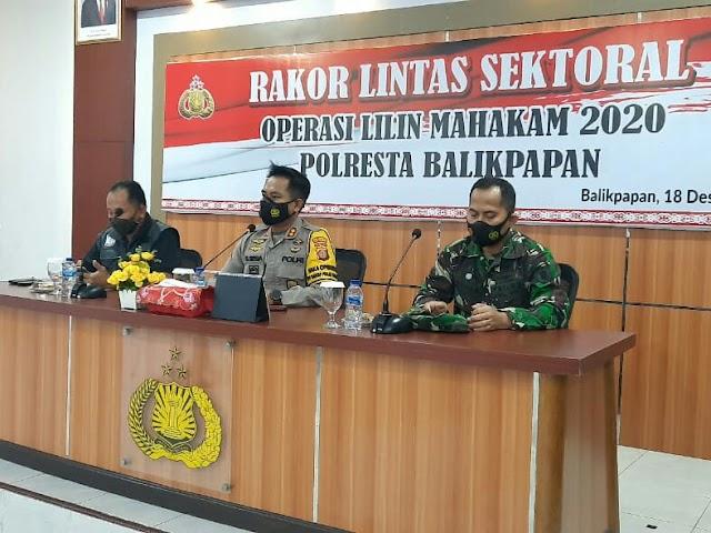Rakor Pengamanan Nataru, Polresta Balikpapan Dirikan 9 Pos Operasi dan Tak Akan Keluarkan Surat Ijin Keramaian