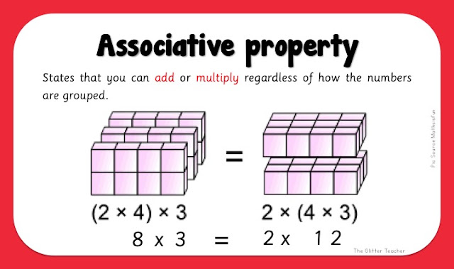 Associative property in multiplication