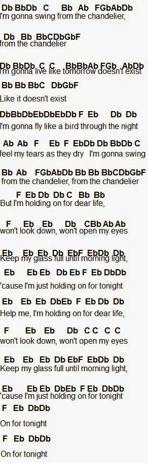 Flute Sheet Music Chandelier