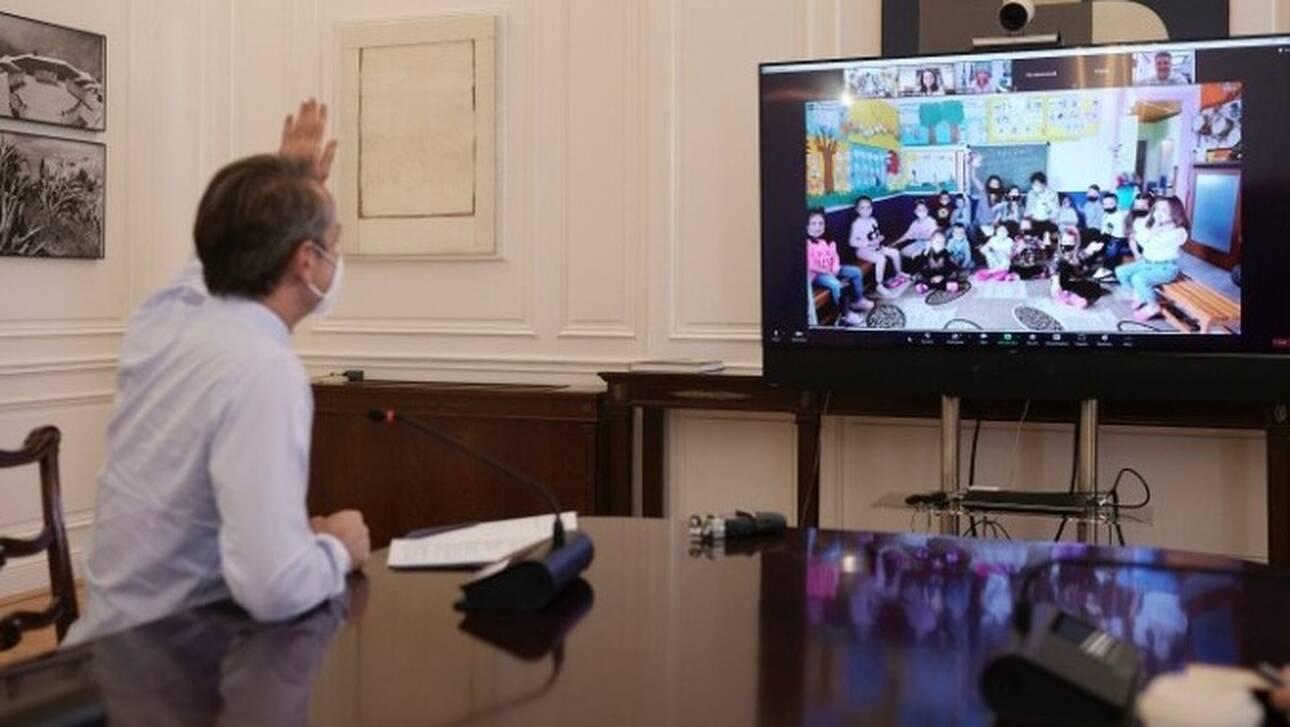Ξάνθη: Συνομιλία Μητσοτάκη με μαθητές από την Πάχνη