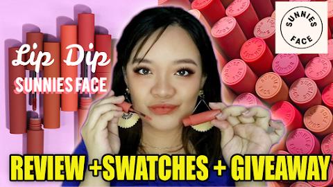 Sunnies Face Lip Dip Swatches + Review | itsRayrose