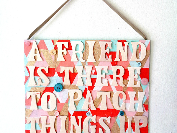 Buttons Galore & More: Gift a DIY Friendship Sign to Someone Special This Holiday!