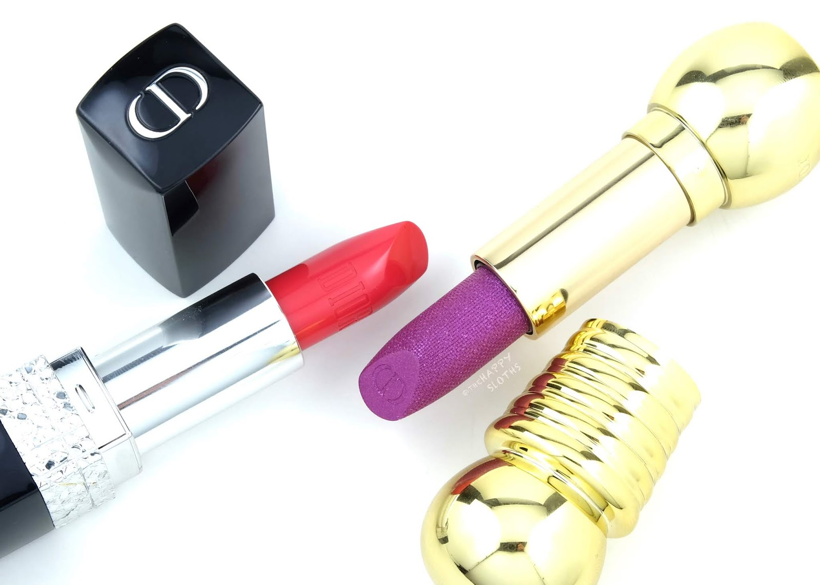 Dior | Happy 2020 Holiday Collection Rouge Dior Jewel Lipstick & Diorific Sparkling Lipstick: Review and Swatches