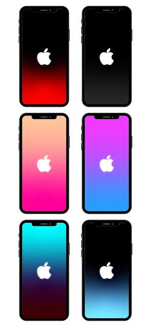 iphone wallpaper with apple logo symbol