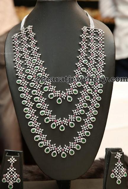 Three Layer Diamond Ruby Sets