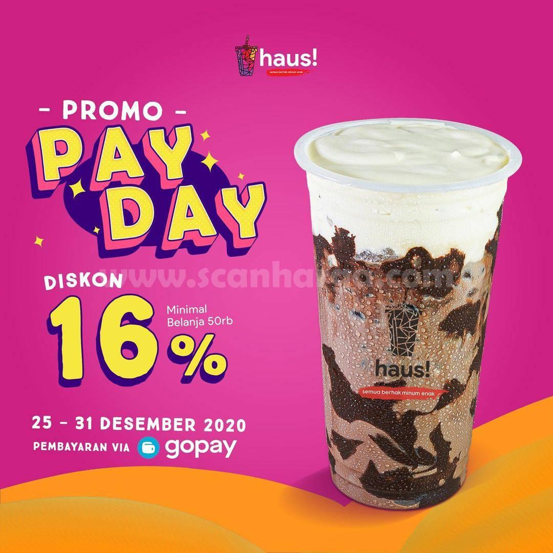 HAUS Spesial Promo PAYDAY – DISKON 16% khusus pemesanan via GOFOOD