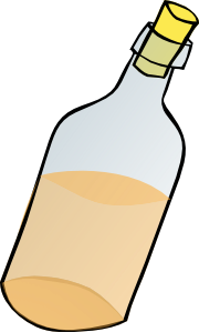 Corked bottle clip art