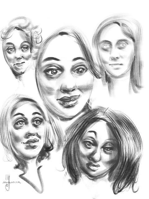 Portrait sketches By Artmagenta