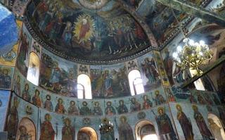 Monasterio de Bachkovo. Interior de la Iglesia de la Asunción de Nuestra Señora.
