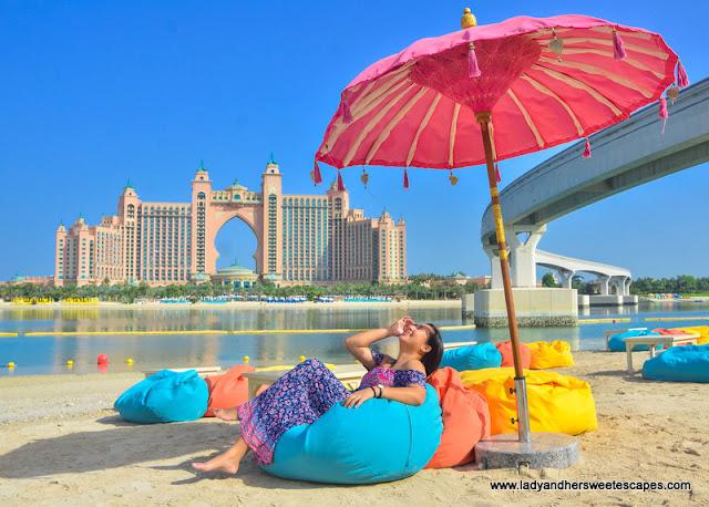 Beach day in Dubai The Pointe