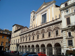 The Church of Santi Apostoli in Rome, where Girolamo Frescobaldi was buried following his death in 1643