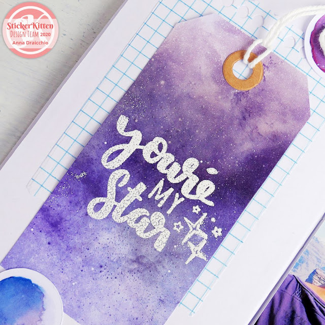 Traveler's Notebook Process - You're my star TN Spread
