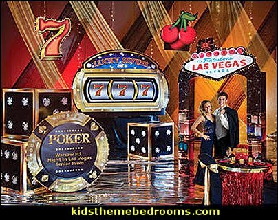 Casino Theme Decorations - Las Vegas Casino Themed decorating ideas - casino themed bedroom decorating ideas - Casino Wall Decorations -   Las Vegas Themed Bedroom Decor -  Casino Party Supplies