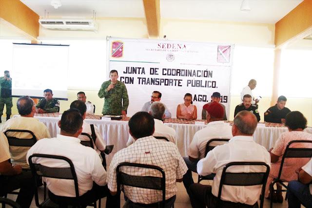 Participan transportistas en Junta de Coordinación con corporaciones de seguridad