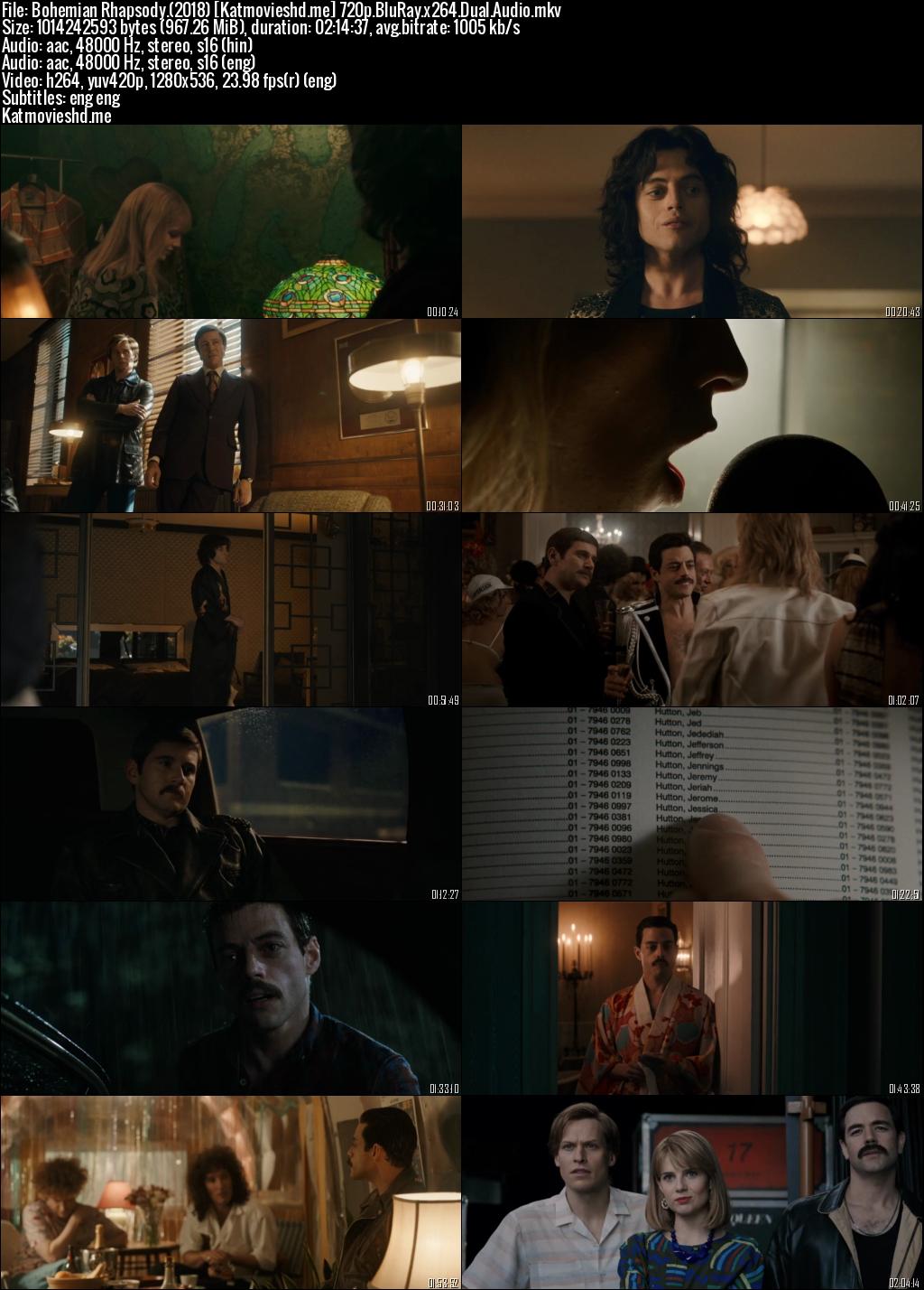 Screenshot of Bohemian Rhapsody 2018 Full Dual Audio Movie Download BRRip 720p