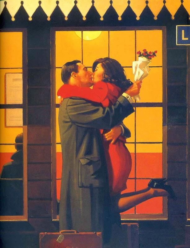 De Volta - Jack Vettriano e suas pinturas cheias de encontros íntimos