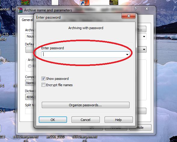 كيفية ضغط الملفات بالوينرار وضع كلمة سر على الملف المضغوط