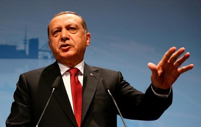 """Erdogan explica em Hamburgo: o clima do planeta era secundário, essencial era  - e segue sendo - tirar dinheiro dos EUA e dos """"ricos""""."""