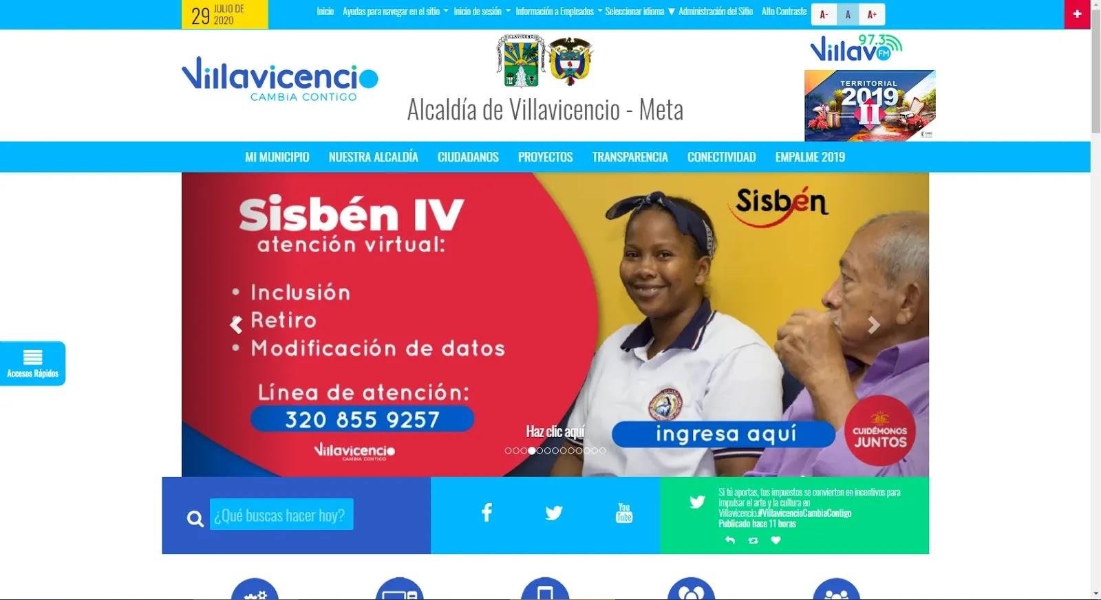 A partir de esta semana, la atención del Sisbén en Villavicencio vuelve a ser únicamente virtual y solo en tres casos específicos
