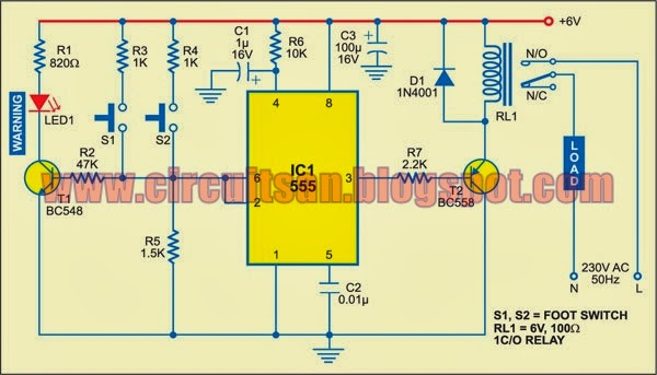 simple accurate foot switch circuit diagram all about. Black Bedroom Furniture Sets. Home Design Ideas