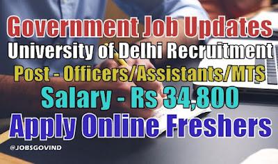 University of Delhi Recruitment 2021