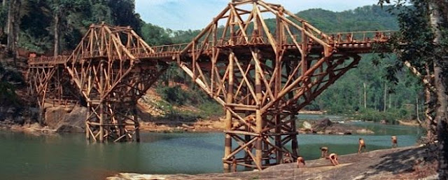 The bridge in the film The Bridge on the River Kwai